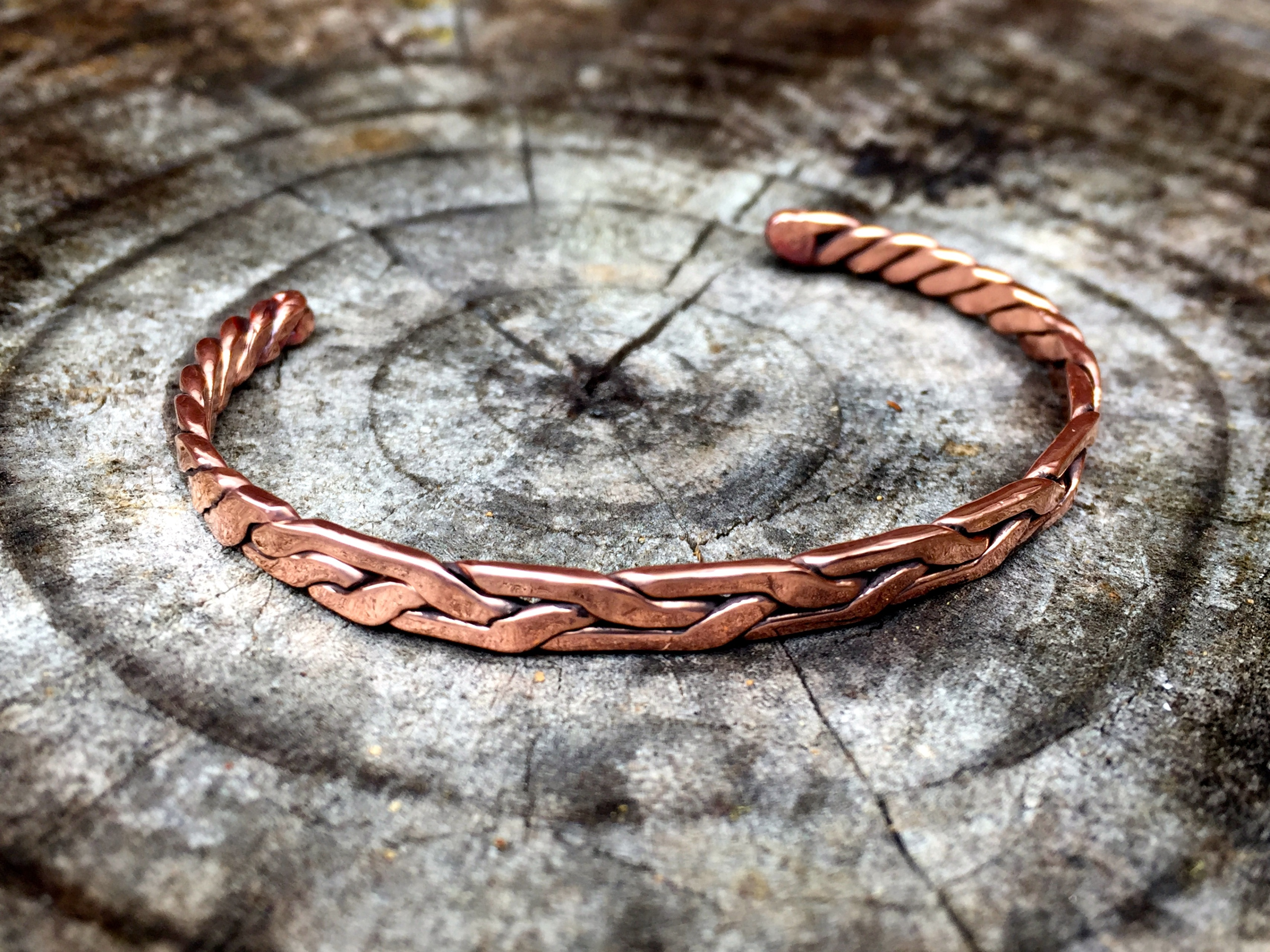 Weaved Copper Bracelet